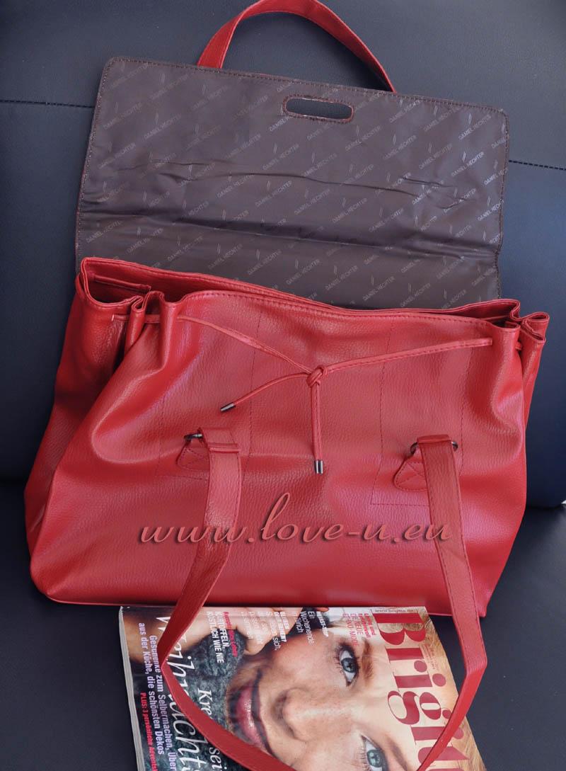 daniel hechter xl tasche handtasche shopper rot neu ebay. Black Bedroom Furniture Sets. Home Design Ideas